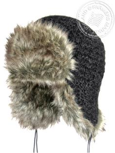 Thufa - Icelandic wool - cotton lining, faux fur hand knitted 1